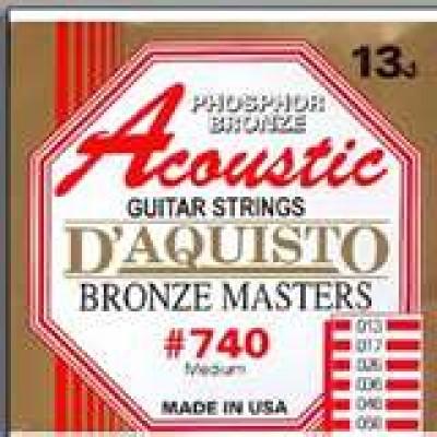 D'Aquisto Phosphor Bronze Masters Acoustic #740
