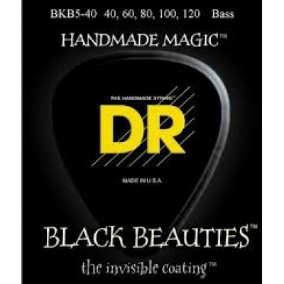DR BKB5-40 Black Beauties 5 String Electric Bass Strings