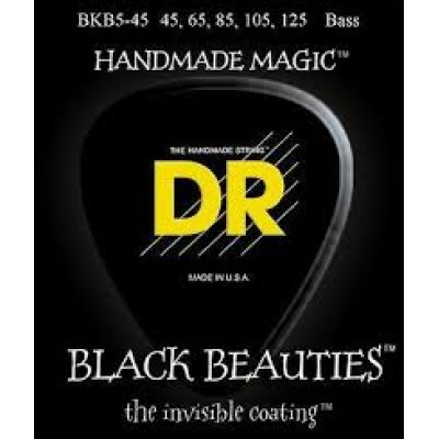 DR BKB5-45 Black Beauties 5 String Electric Bass Strings
