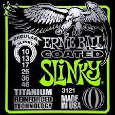 Ernie Ball Coated Titanium RPS Regular Slinky Electric 3121