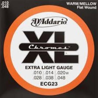 D`Addario ECG23 Chromes Electric Extra Light Flat Wound