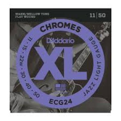 D`Addario ECG24 Chromes Electric Jazz Light
