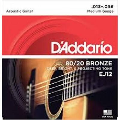 D`Addario 80-20 Bronze Medium EJ12
