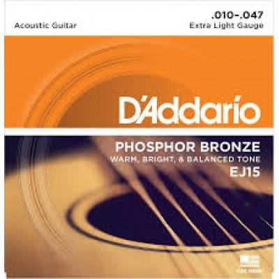 D`Addario Acoustic Phosphor Bronze Extra Light EJ15
