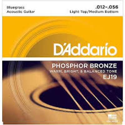 D`Addario Acoustic Phosphor Bronze Bluegrass light top/heavy bottom EJ19