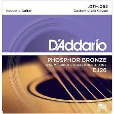 D`Addario Acoustic Phosphor Bronze Custom Light EJ26