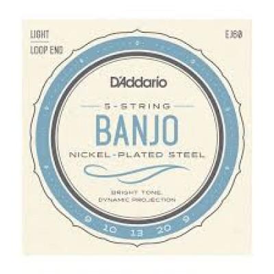 D`Addario 5 String Banjo Light EJ60