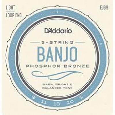 D`Addario 5 String Banjo Light EJ69