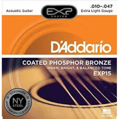D`Addario Acoustic Coated Phosphor Bronze Extra Light EXP15
