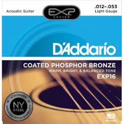 D`Addario Acoustic Coated Phosphor Bronze Light EXP16