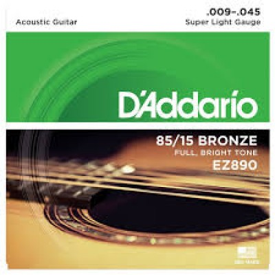 D`Addario 85-15 Bronze Super Light EZ890