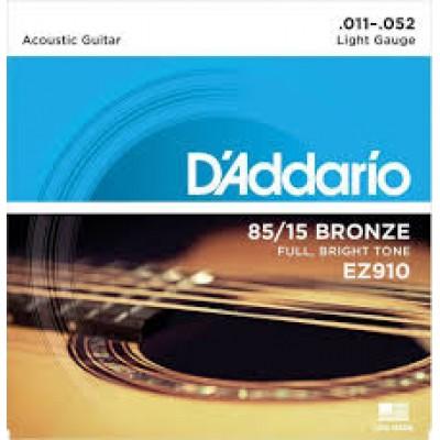 D`Addario Acoustic 85-15 Bronze Light EZ910