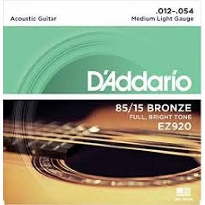 D`Addario 85-15 Bronze Medium/Light EZ920
