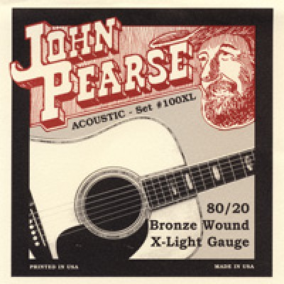 John Pearse Acoustic 80/20 Bronze Extra Light