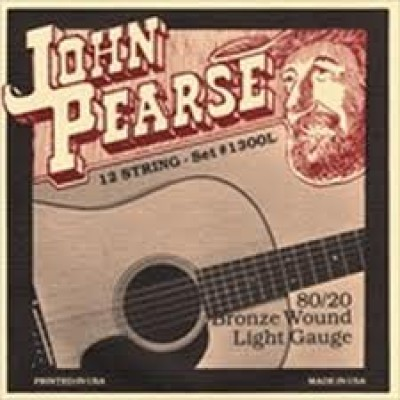 John Pearse 80/20 Bronze Acoustic 12 string Light