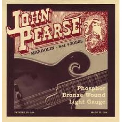 John Pearse Mandolin Phosphor Bronze Light