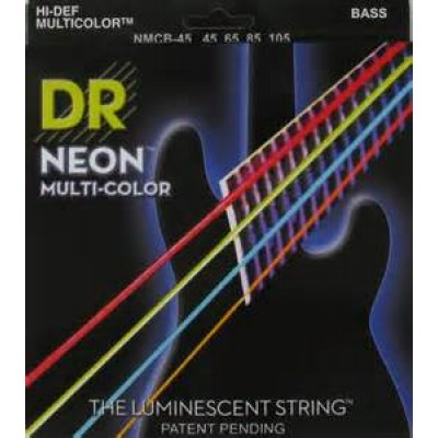 DR NMCB-45 Neon Multi-Color 4 String Electric Bass Strings