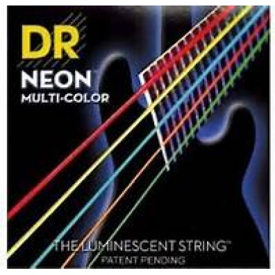 DR NMCB5-40 Neon Multi-Color 5 String Electric Bass Strings