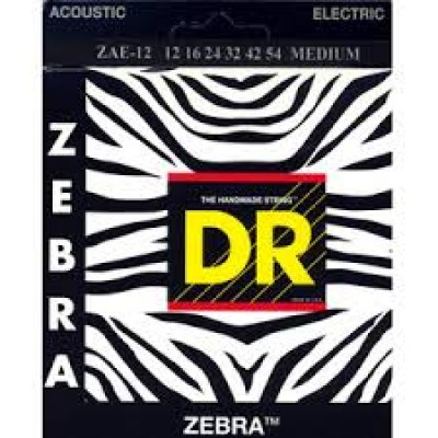 DR Zebra Electric-Acoustic Medium gauge strings