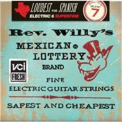 Reverend Willy's Mexican Lottery Brand Electric Guitar Strings 7
