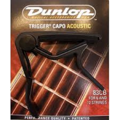 Dunlop Trigger Capo Acoustic Guitar Curved Black 83CB