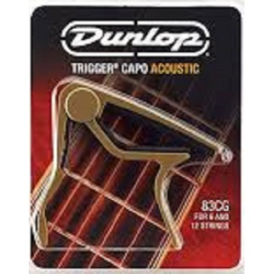 Dunlop Trigger Capo Acoustic Guitar Curved Gold 83CG