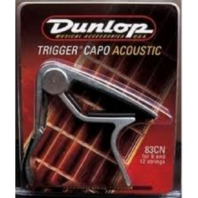 Dunlop Trigger Capo Acoustic Guitar Curved Nickel 83CN
