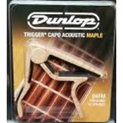 Dunlop Trigger Capo Acoustic Guitar Flat Maple 84FM