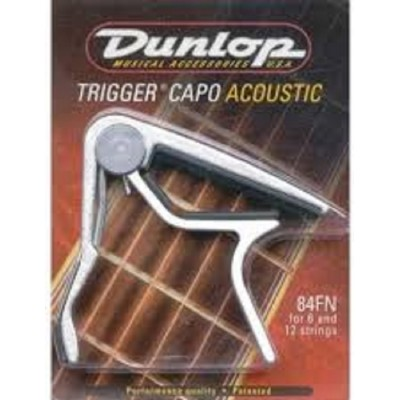 Dunlop Trigger Capo Acoustic Guitar Flat Nickel 84FN