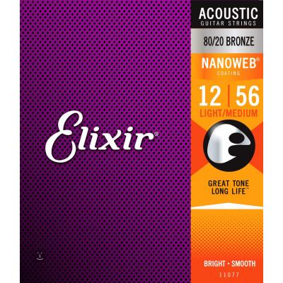 Elixir 80/20 Bronze Acoustic Light Medium Nanoweb