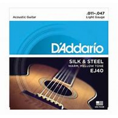 D'Addario Acoustic Silk & Steel EJ40