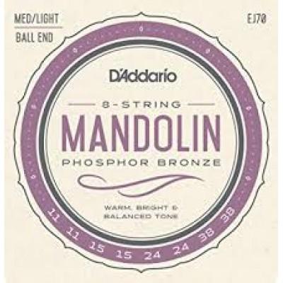 D`Addario 8 string Mandolin Ball End EJ70