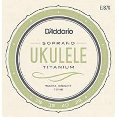 D`Addario Soprano Ukulele Titanium EJ87S