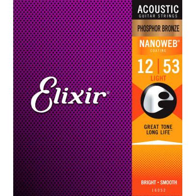 Elixir Acoustic Phosphor Bronze Light Nanoweb