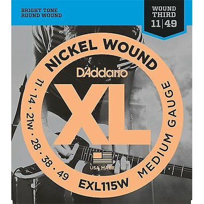 D'Addario EXL115W  Electric guitar strings Medium