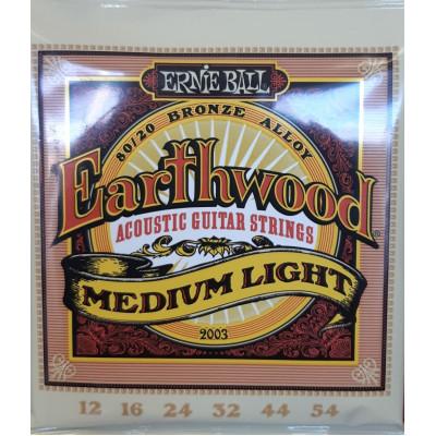 Ernie Ball Earthwood Acoustic 80/20 Bronze Medium Light