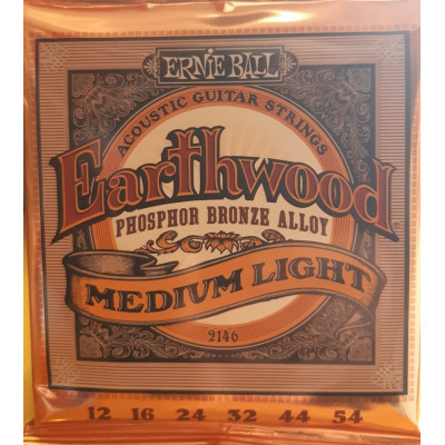 Ernie Ball Earthwood Acoustic Phosphor Bronze Medium Light
