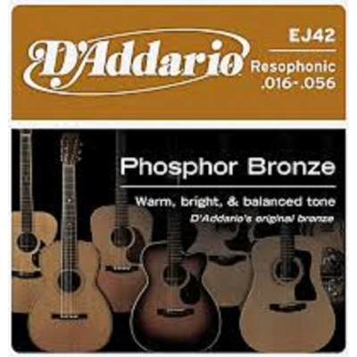 D`Addario Acoustic Phosphor Bronze Resophonic Guitar EJ42