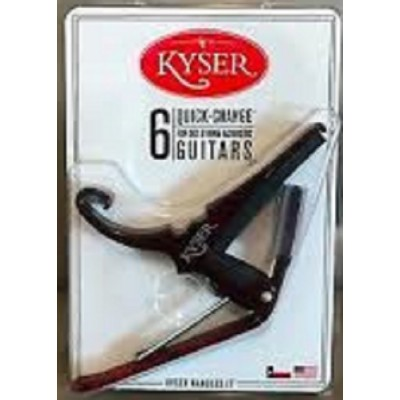 Kyser Acoustic Guitar Quick-change Capo Black KG6BA