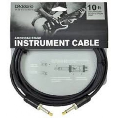 D'Addario American Stage Instrument Cable - 10 ft.